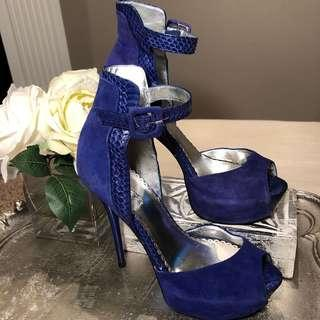 Royal Blue Platform Pumps Size 8