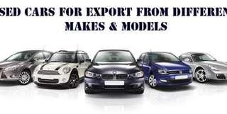 Export n Used Car WANTED !