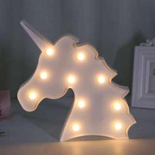 White Warm Light Unicorn Light Battery