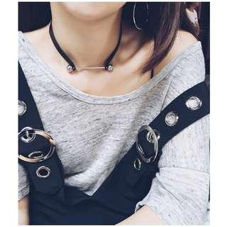 Ball Bearings Leather Choker / Bracelet