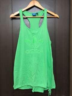 Adidas sleeveless racer back workout exercise top neon green
