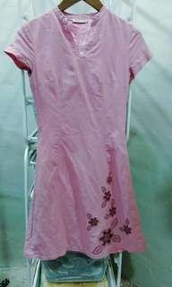 piNk pAlE dREsS witH bEAdS