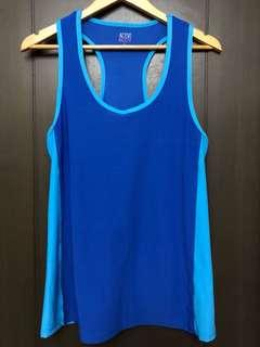 Cotton On sleeveless blue striped racer back yoga running exercise top