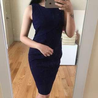 High end purple dress
