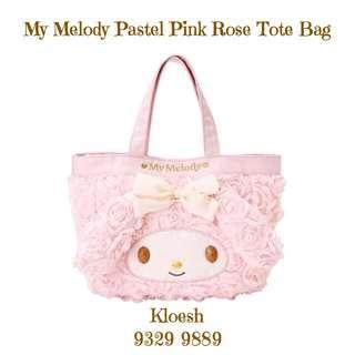 My Melody Tote Bag In Pastel Pink Roses