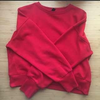 New Red Cropped Jumper