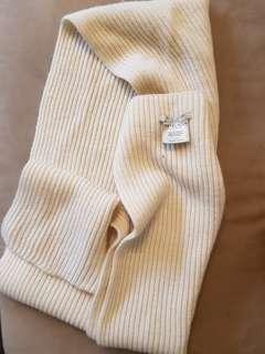 Metalicus cream scarf (wool and alpaca)