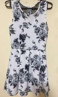 Semi-formal black and White dress