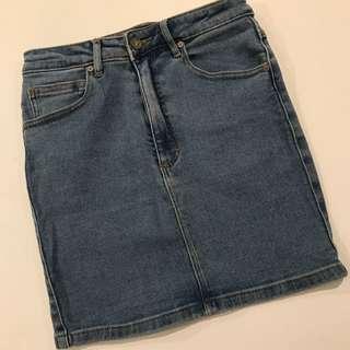 Abrand A. Mini Skirt LA Blue Size 8