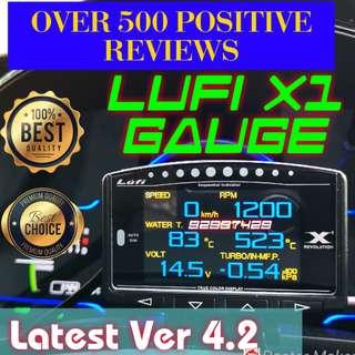 🏆579🏆 Positive Reviews Genuine Full English Lufi X1 revolution OBD OBD2 Gauge Meter display Ready stock / cag / defi stand-alone gauge cars expo 2018