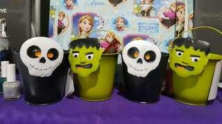 Halloween tin cans kids