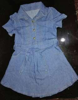 Denim Dress fits 3 to 5 years Old