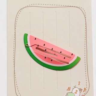 🚚 Watermelon Korean Hair Clip Little Girls Toddler Children