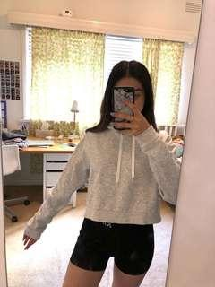 grey cropped jumper/sweater