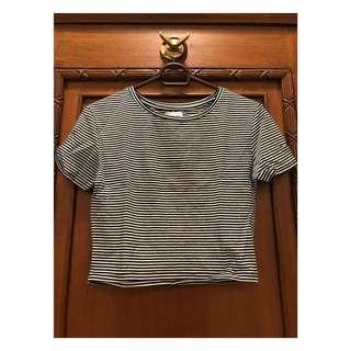 [ZARA] Striped Crop Top