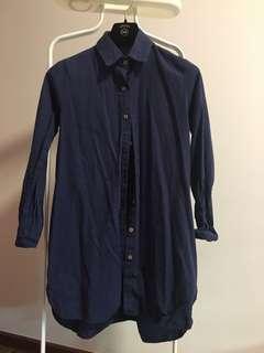 🚚 HVV Oversize Blue Top Tunic Blouse
