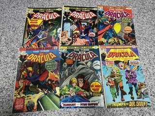 @ Bronze Age Marvel Tomb of Dracula comics