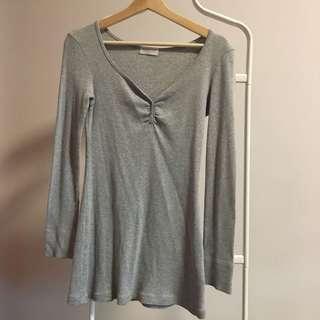 🚚 Giordano grey ribbed top dress