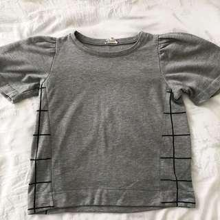 grey design top