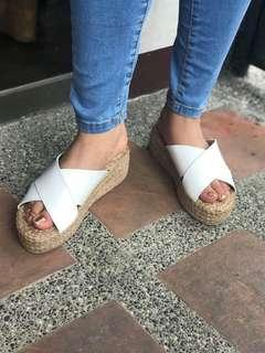 "💕Esther Abaca Double Banso (2"") Wedges💕"