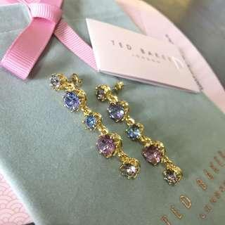 (NEW) Ted Baker Swarovski Crystal Long Drop Earring