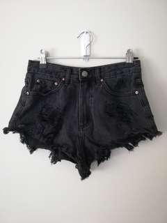 Glassons Slouchy Cheeky Shorts Black Size 6