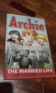 just married archie comic book