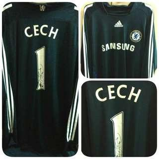 Signed Cech 1 Chelsea Adidas Away Goalkeeper Kit Jersey 2008-2009 Men XXL Ori