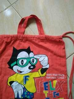 Vintage Felix the cat drawsting bag