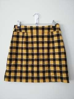Clueless style Yellow/Black Check Glassons Skirt