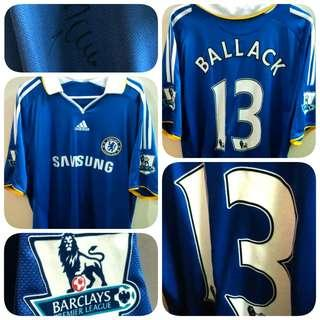 Signed Ballack 13 Chelsea Adidas Home Kit 2008-2009 Jersey SS Men XL Ori