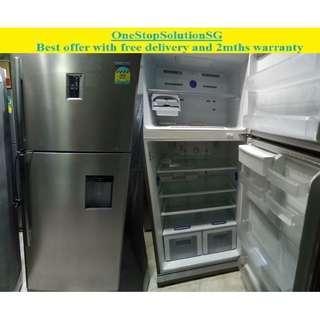 Samsung (497L), 2doors big fridge / refrigerator with water dispenser ($450+ free delivery & 2mths warranty)