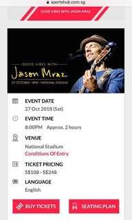 CAT2 Jason Mraz Tickets ⭐️⭐️