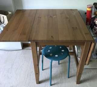 Foldable dining table ikea Vhive crate&barrel