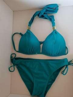 Aqua green bikini set