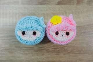 🚚 Twin Star Tsum Tsum Crochet Mini Container (Pair)
