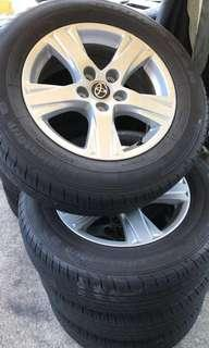 """Toyota Vellfire 16"""" Rims with Goodyear 215/65/16 Tyres"""