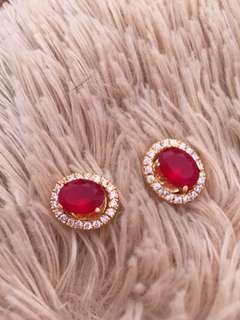 ruby earings 2 n 1