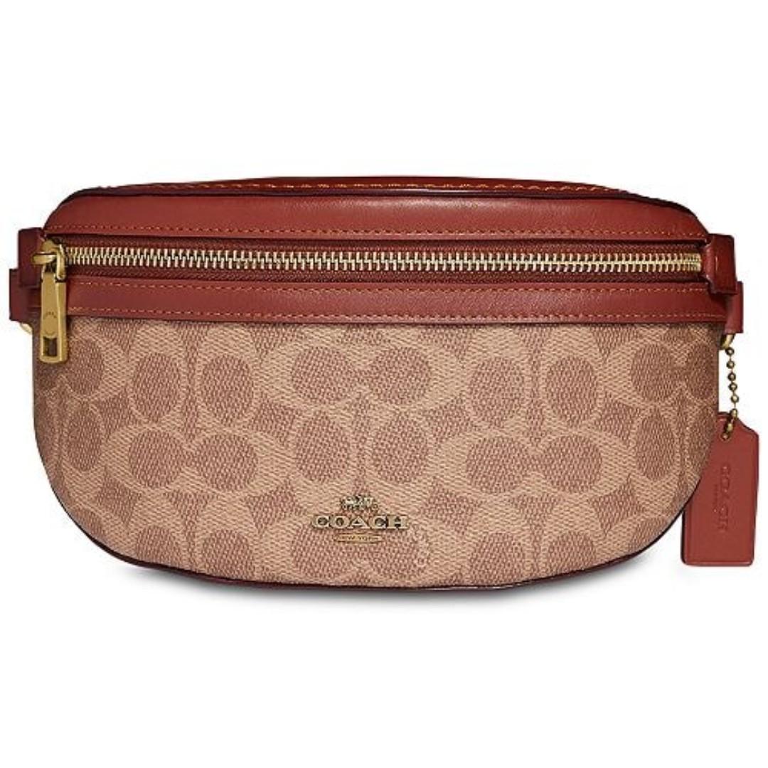 5d019dcf 100% Authentic! Coach belt bag in signature canvas, Women's Fashion ...