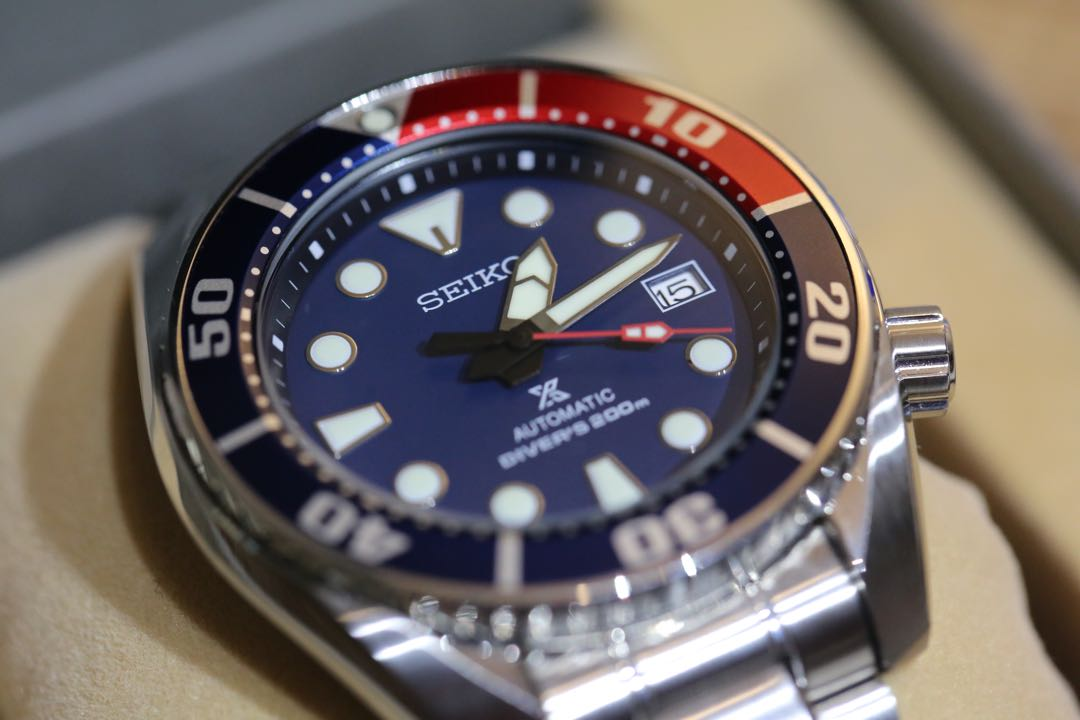 511016120d9b 100% Authentic Excellent Condition Seiko Sumo Pepsi Blue Red with ...