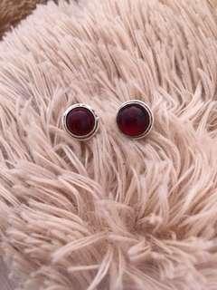 garnet earings
