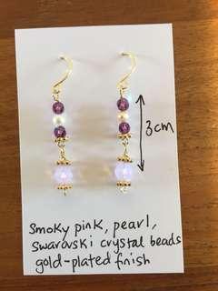 Swarovski beads earrings