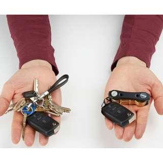 Portable Key Holder Organizer Clip Folder Led Keychain Ring