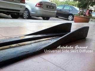Universal Side Skirt Diffuser PU