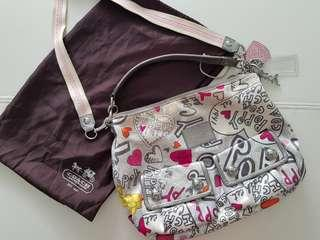 Coach shoulder and sling bag, original