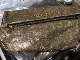 (with flaw) Victoria's Secret gold clutch bag