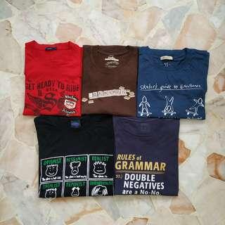 A Bundle of Men's Graphic Tees in Size L/ XL