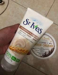Masker organik + st ives (TAKE ALL)