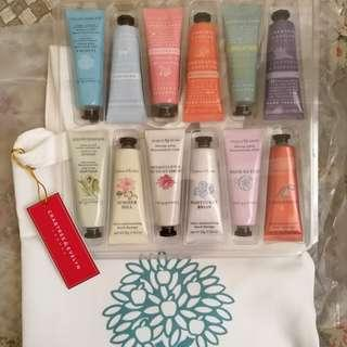 Crabtree & Evelyn 12-pc hand cream set with carry tote