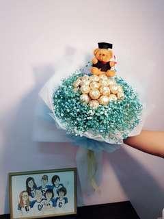 Graduation bouquet with Ferraro rocher